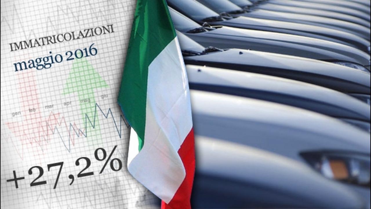 [Copertina] - Mercato auto, l'Italia a maggio ha volato alto