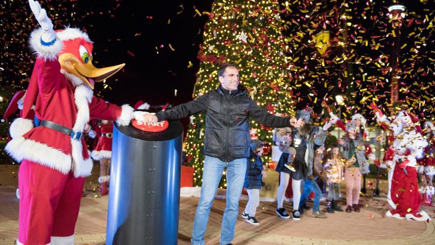 Ferrari Land, Marc Gené dà il via alla stagione natalizia