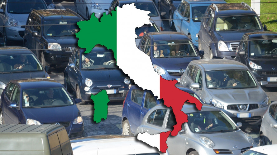 Densità auto, l'Italia è seconda in Europa