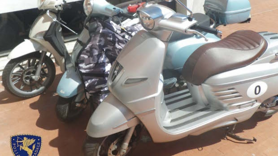 Furti scooter e bici: molti finiscono in Tunisia