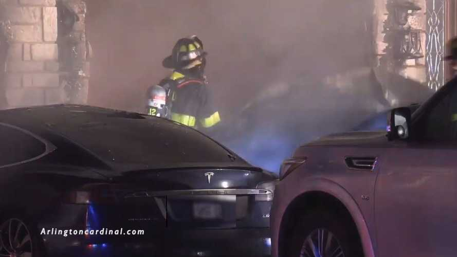 Mysterious Garage Fire Takes Out A Tesla And Other Vehicles