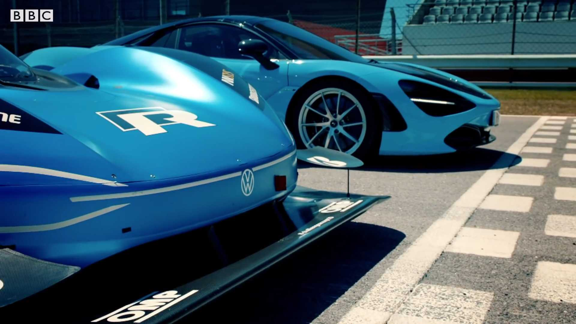 Watch The Electric VW I.D. R Embarass a McLaren 720s In A Drag Race