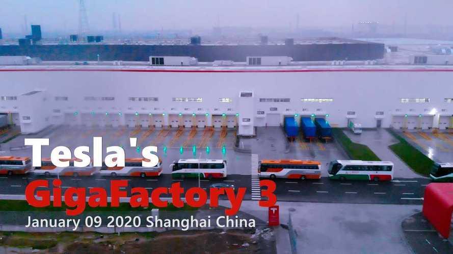 Tesla Gigafactory 3 Construction Progress January 9, 2020: Video