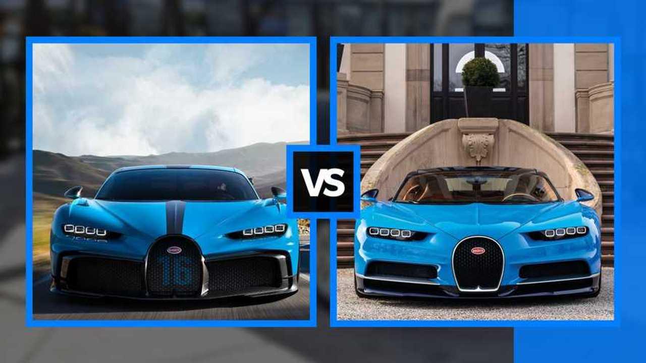 Bugatti Chiron vs Chiron Pur Sport