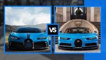 Bugatti Chiron standard contro Chiron Pur Sport