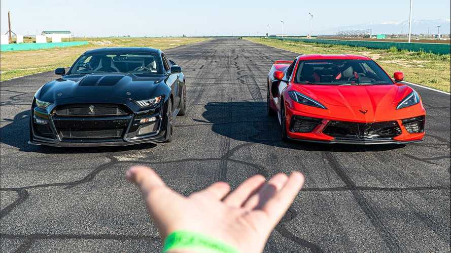 Shelby GT500 And Corvette C8 Owner Compares His Cars On Track