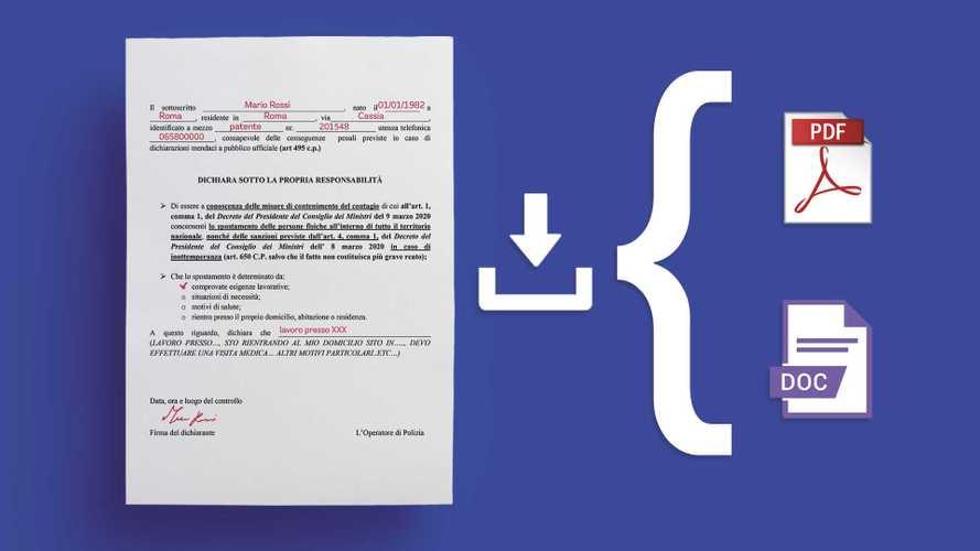 Autocertificazione PDF, DOC e digitale, il modulo in tutti i formati