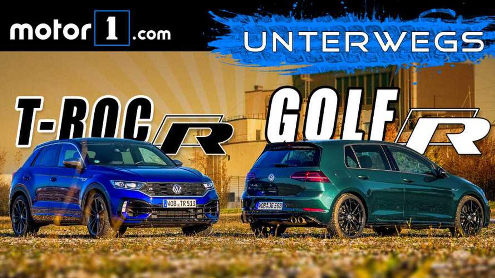 Video: VW T-Roc R und VW Golf R im Vergleichstest