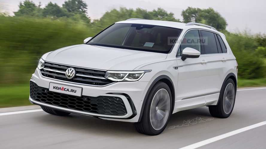 Projeção: VW Tiguan 2021 mostra novo visual baseado no Golf 8