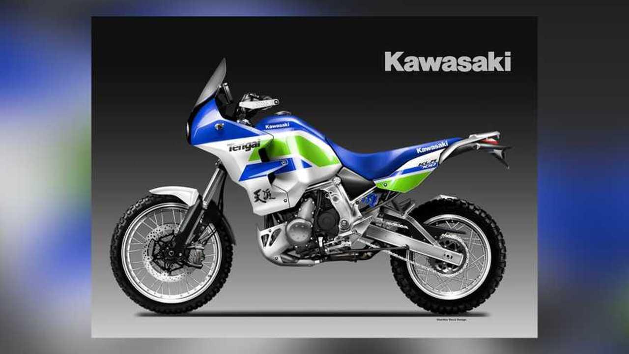 Oberdan Bezzi Kawasaki KLR700 Tengai Render