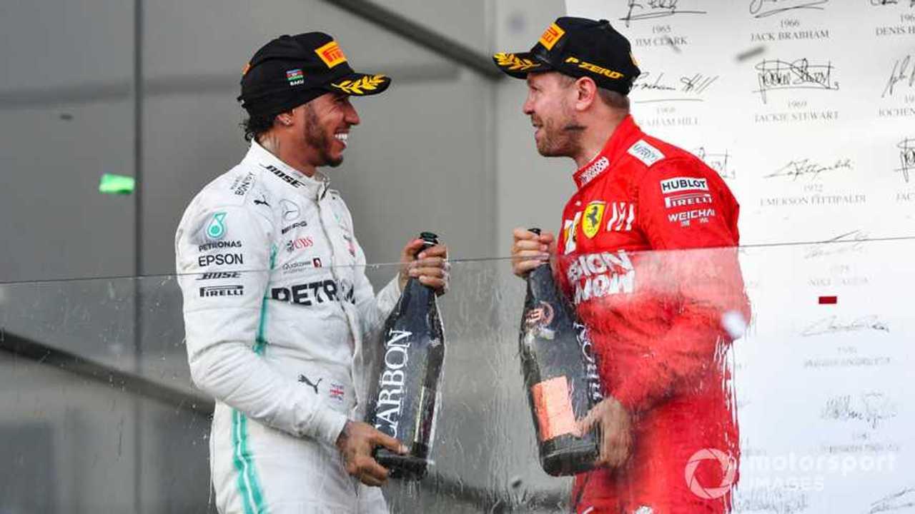 Lewis Hamilton and Sebastian Vettel at Azerbaijan GP 2019