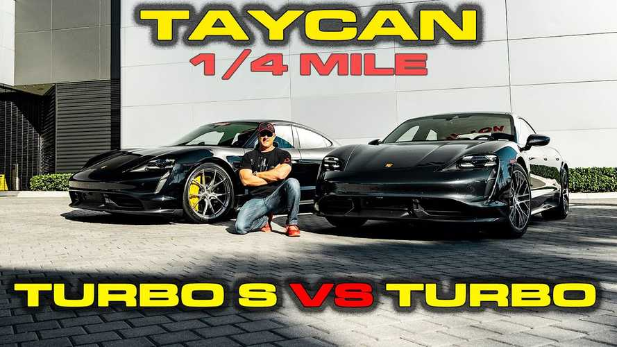 Porsche Taycan Turbo S vs Turbo testing 0-60 mph, 1/4 mile, more