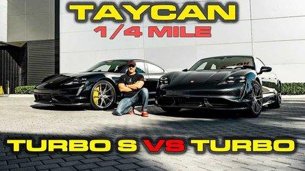 Porsche Taycan Turbo S vs Turbo testing 0-60 mph, 1/4 mile, more