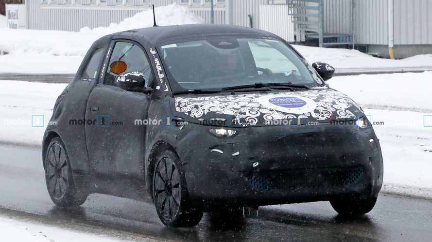 New Fiat 500e spied preparing for hardtop version
