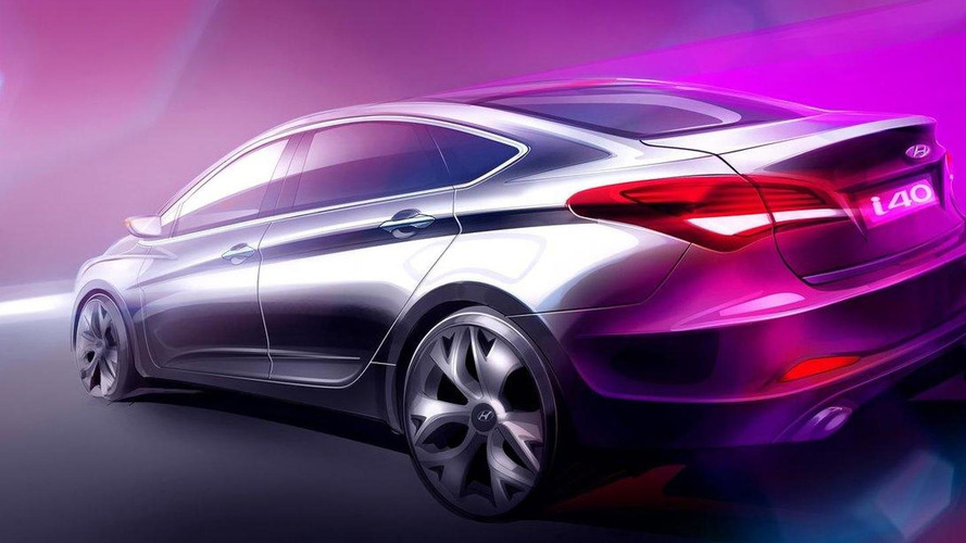 New Hyundai i40 sedan previewed ahead of Barcelona debut