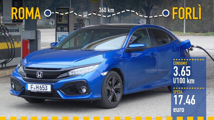 Honda Civic 1.6 i-DTEC, la prova dei consumi reali