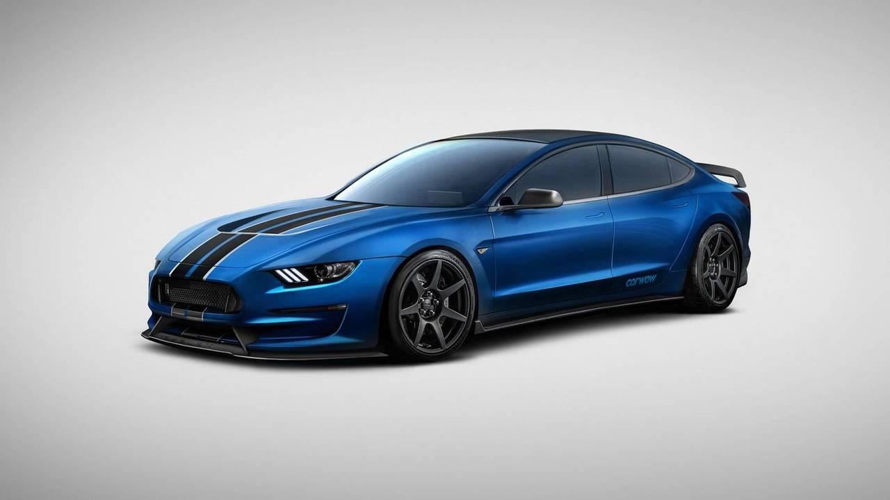 Tesla Model 350R (Tesla Model 3 + Ford Mustang GT350R)
