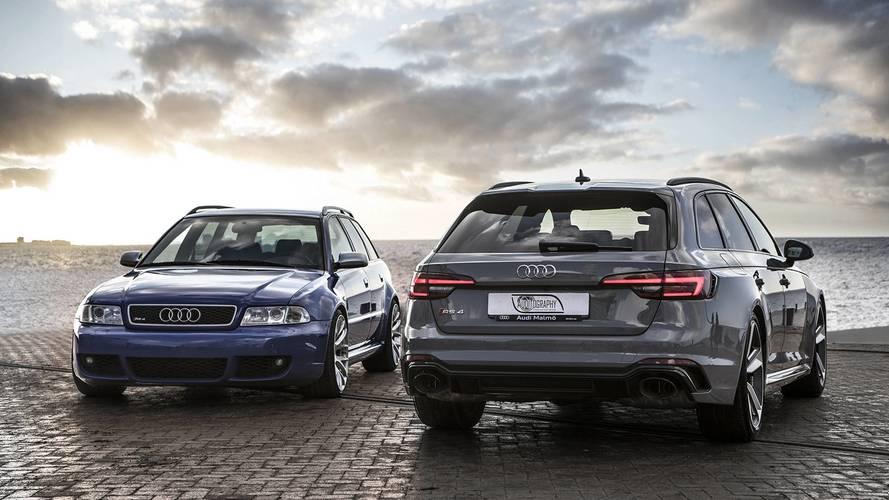 Geçmiş gelecekle buluştu: 2001 ve 2018 Audi RS4 Avant'lar yan yana