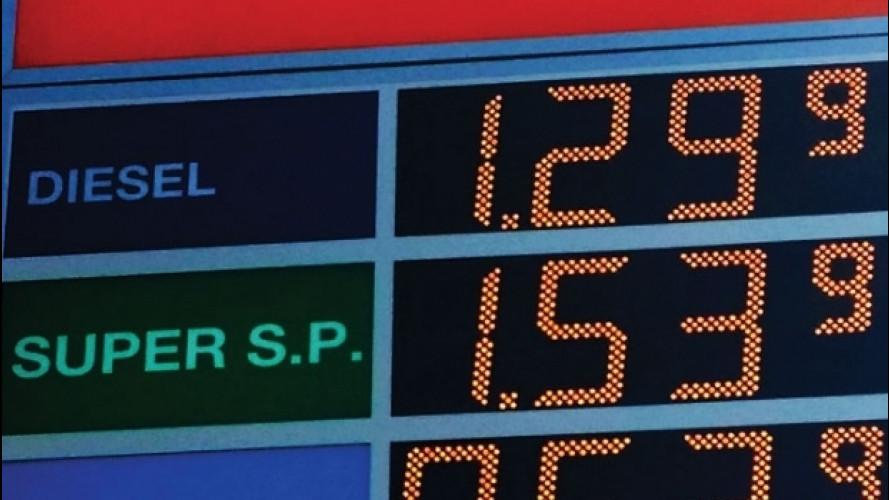 Prezzi di benzina e gasolio in aumento nel 2017
