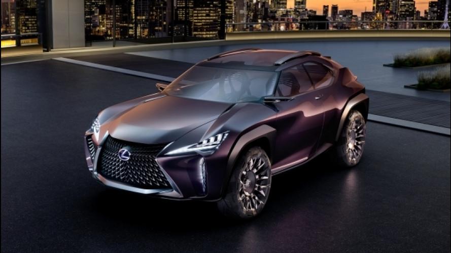 """Salone di Parigi, Lexus UX Concept è il SUV """"al rovescio"""""""