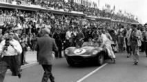 Jaguar D-Type at Le Mans