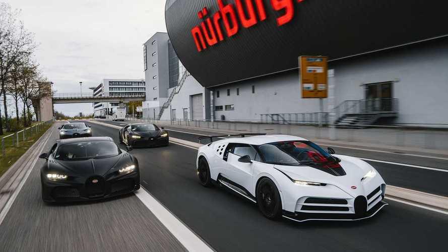 Bugatti Centodieci y Chiron en Nürburgring