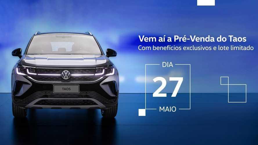 Volkswagen Taos 2022 iniciará pré-venda no dia 27 de maio