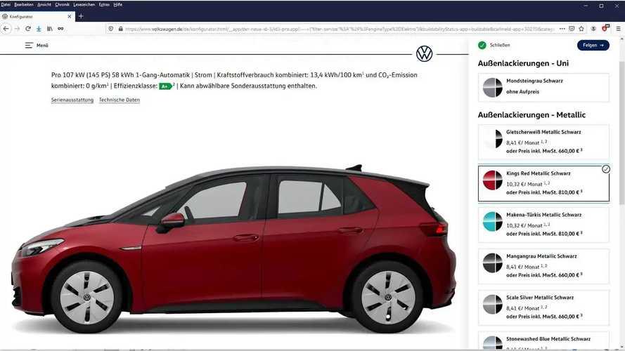 VW ID.3: Mehr Ladeleistung bei 45- und 58-kWh-Akku