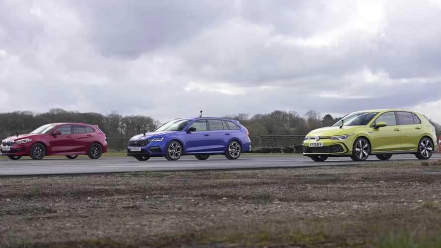 VW Golf GTD Races BMW 1 Series And Skoda Octavia RS In Diesel Showdown