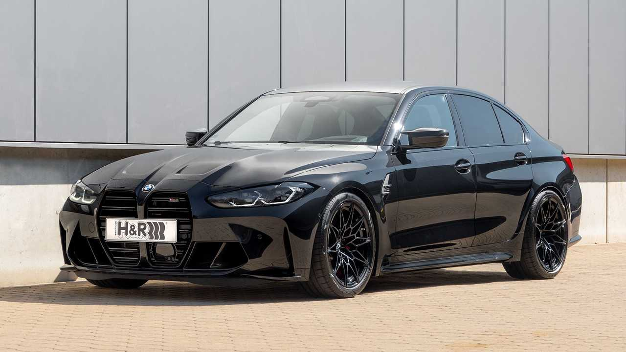 BMW M3 mit Sportfedern von H&R