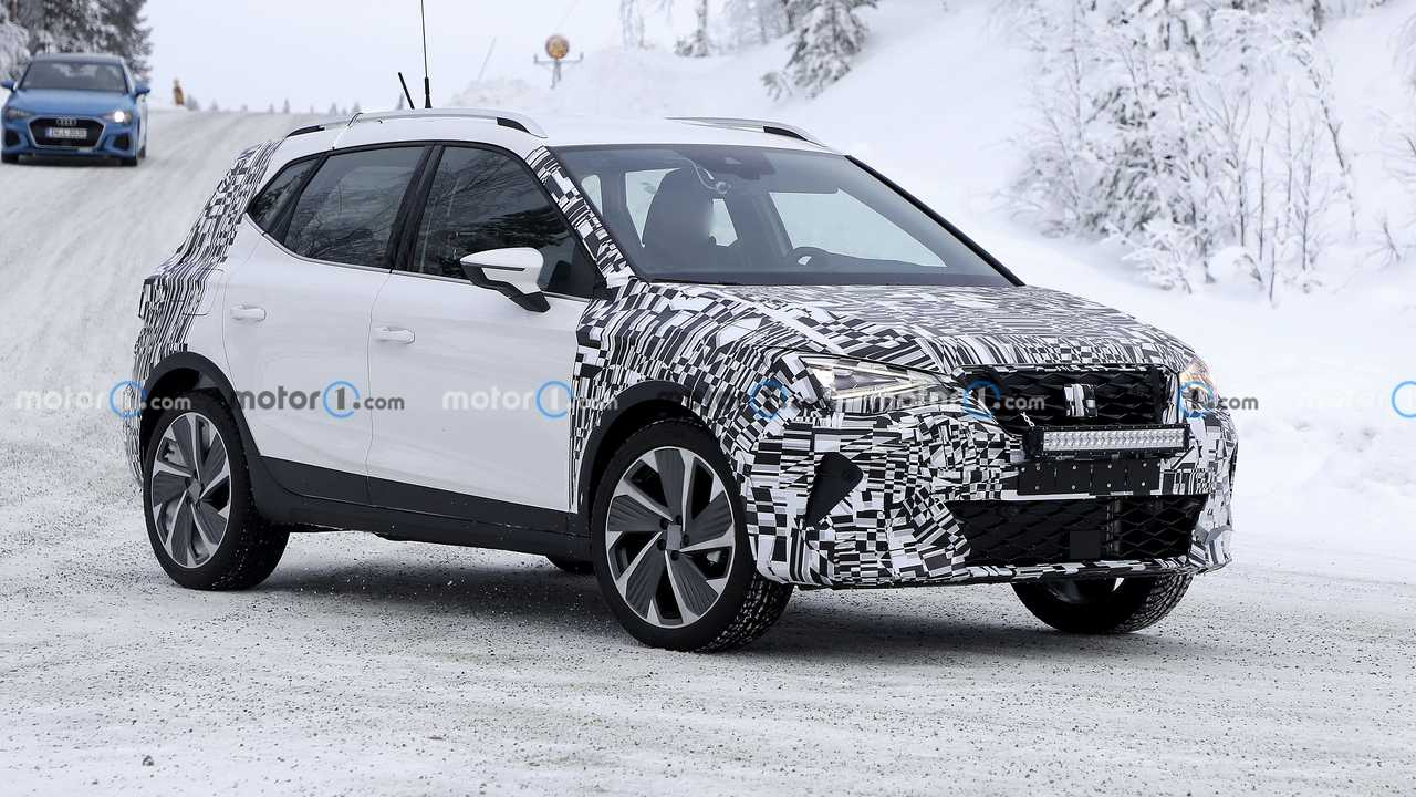 SEAT Arona facelift spied again