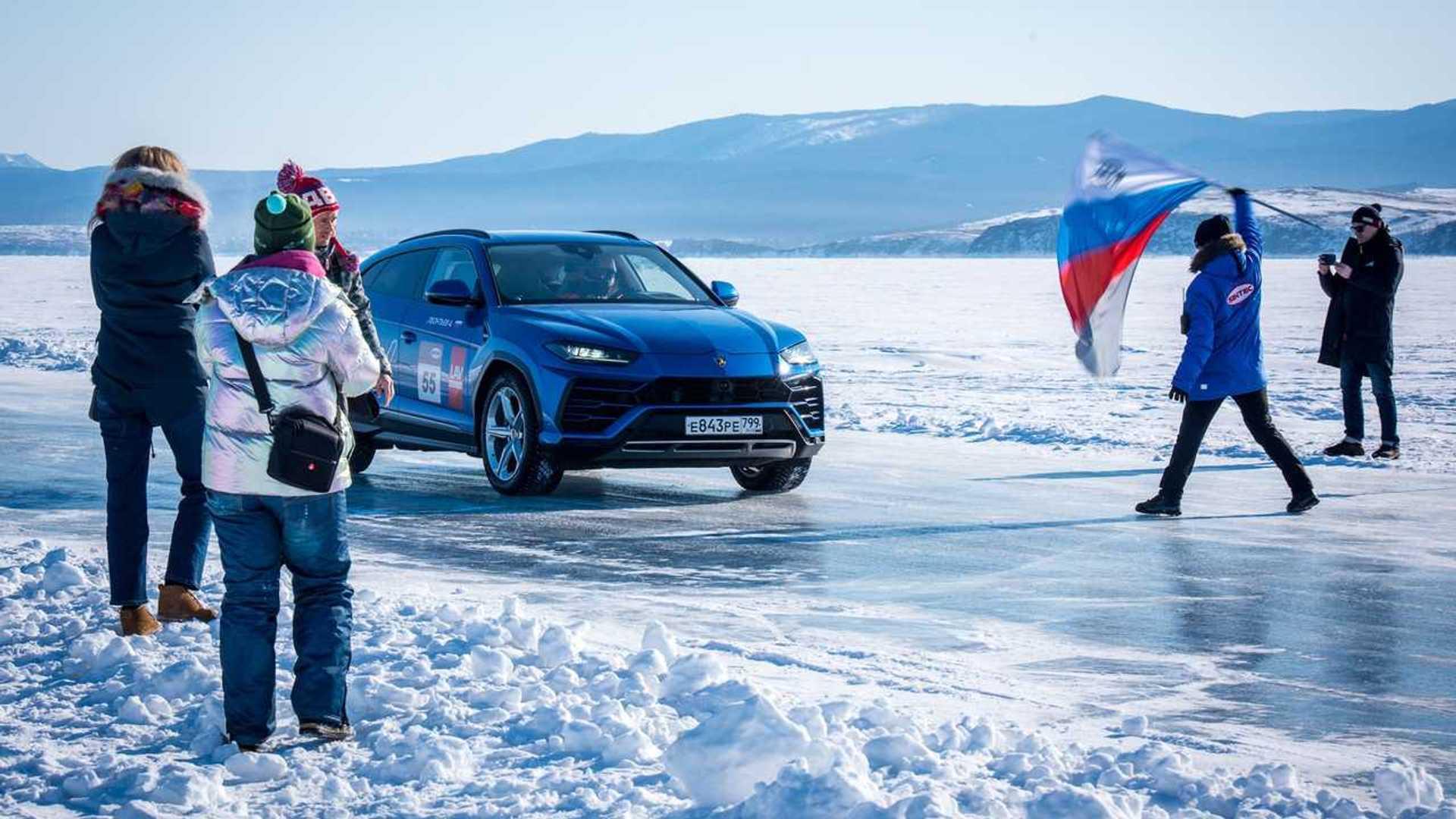 Lamborghini Urus High Speed Record On Ice