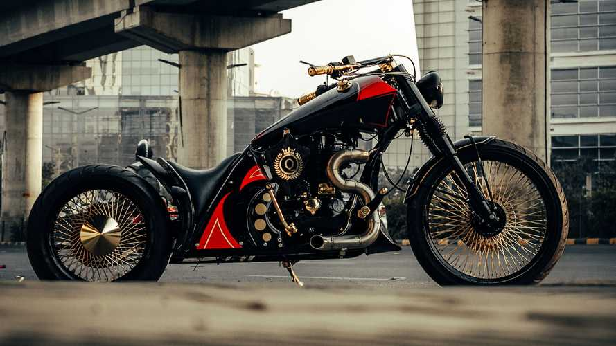 Custom Royal Enfield 500 Is A Killer Queen Of A Bobber