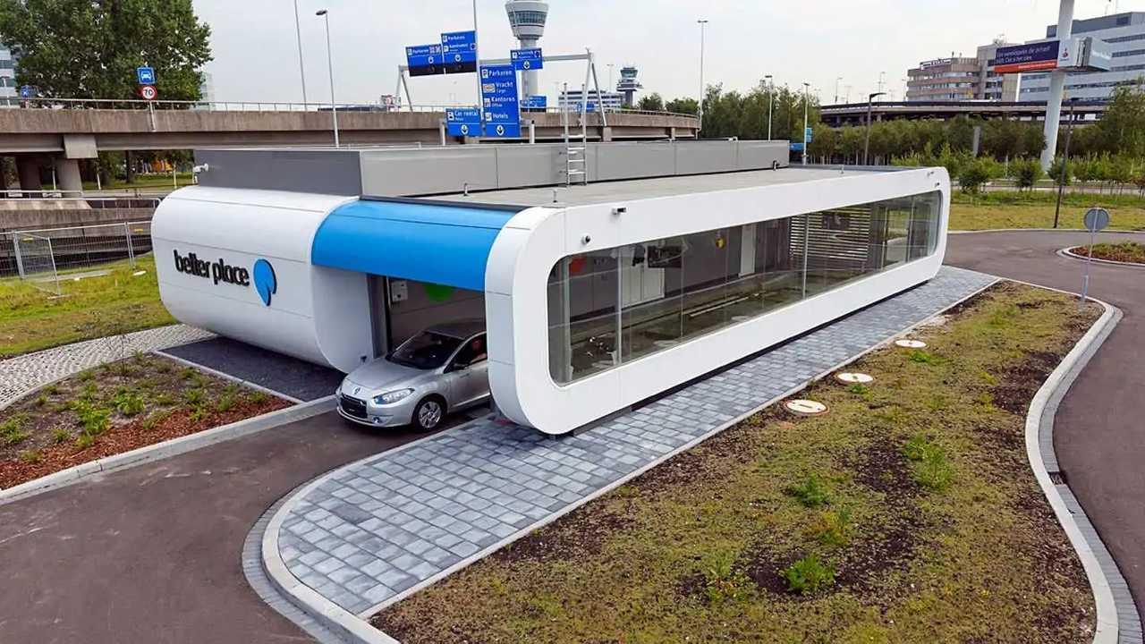 Станция быстрой замены батарей Renault