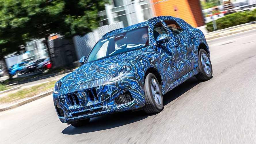 Maserati Grecale zeigt sich auf neuen offiziellen Prototypenbildern
