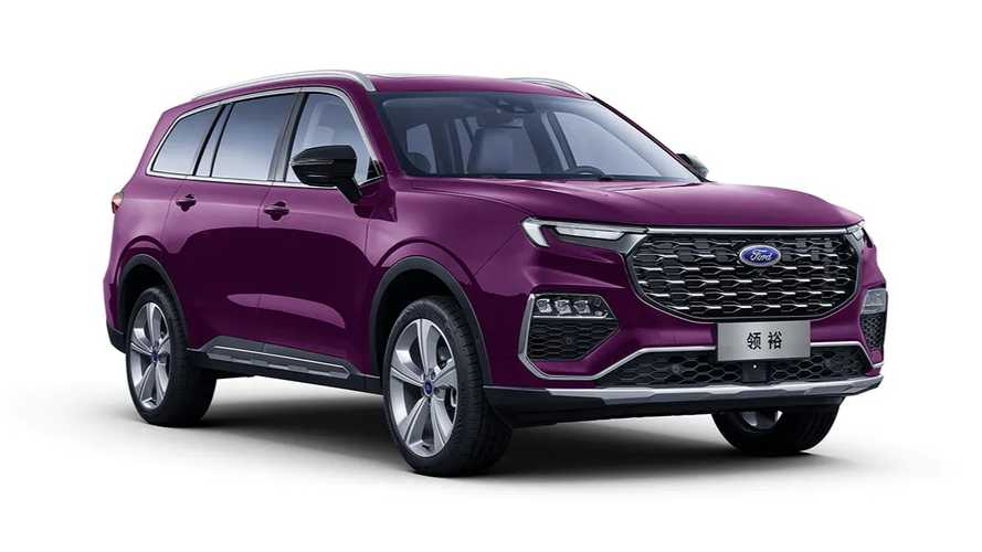 Ford Equator Three-Row SUV Debuts With Bold Color, Fancy Cabin