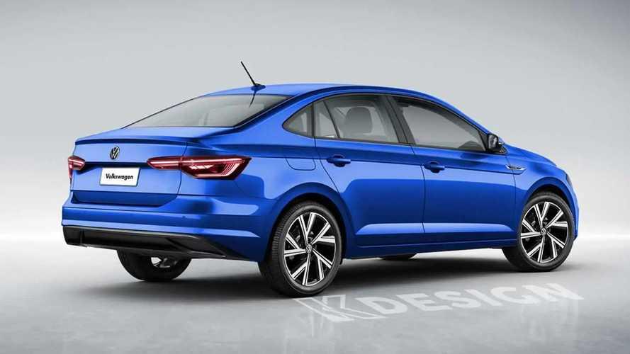 VW Virtus reestilizado - Projeção