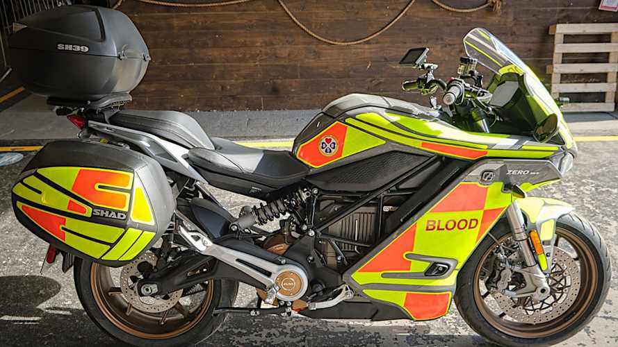 Blood Bikes Scotland welcomes new Zero SR/S to its fleet