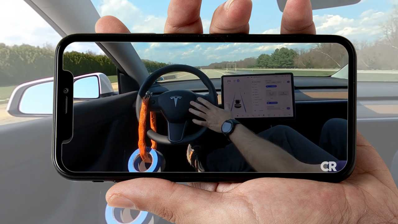 Consumer Reports Makes A Tesla Drive On A Track With No Driver