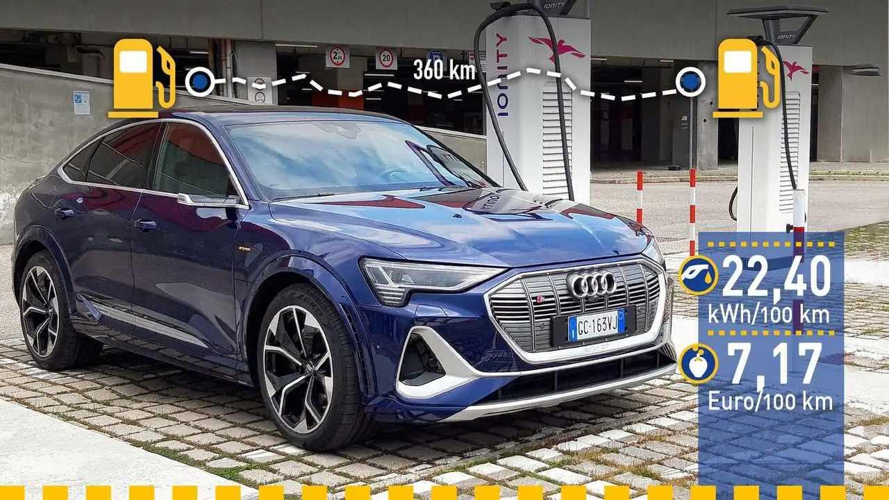 Audi e-tron S Sportback im Verbrauchstest