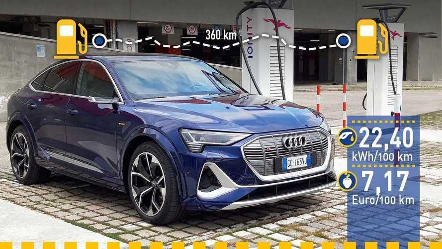 Tatsächlicher Verbrauch: Audi e-tron S Sportback im Test