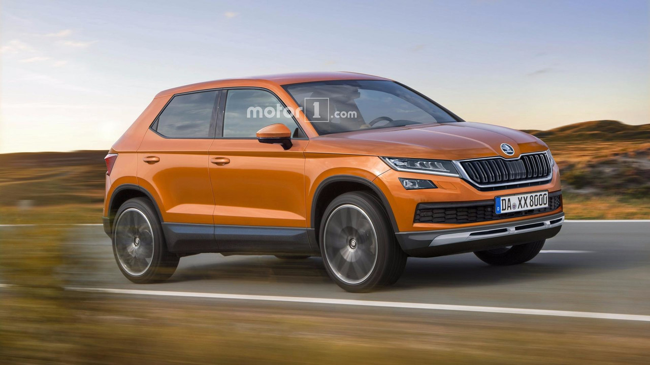 skoda polar render imagines the 2019 fabia crossover rh motor1 com