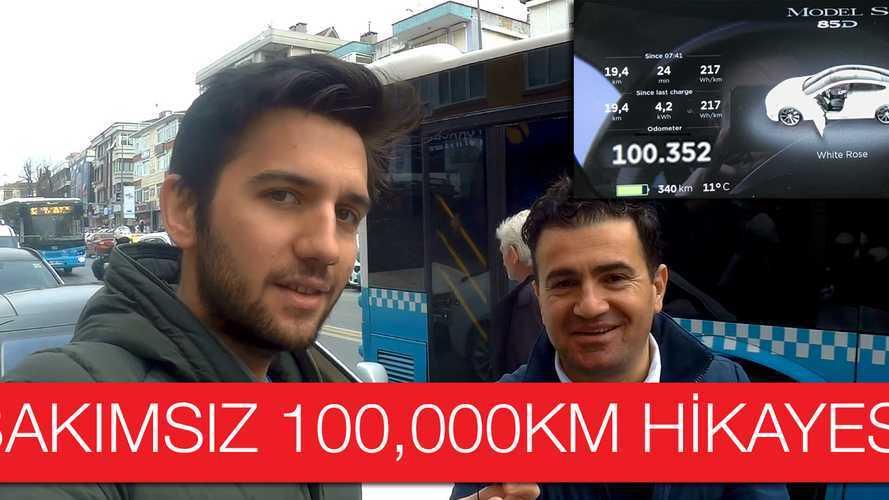 Tesla Model S; Bakımsız 100.000km Hikayesi