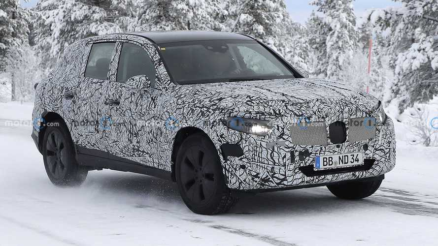 Next-gen Mercedes GLC spied winter testing near Arctic Circle