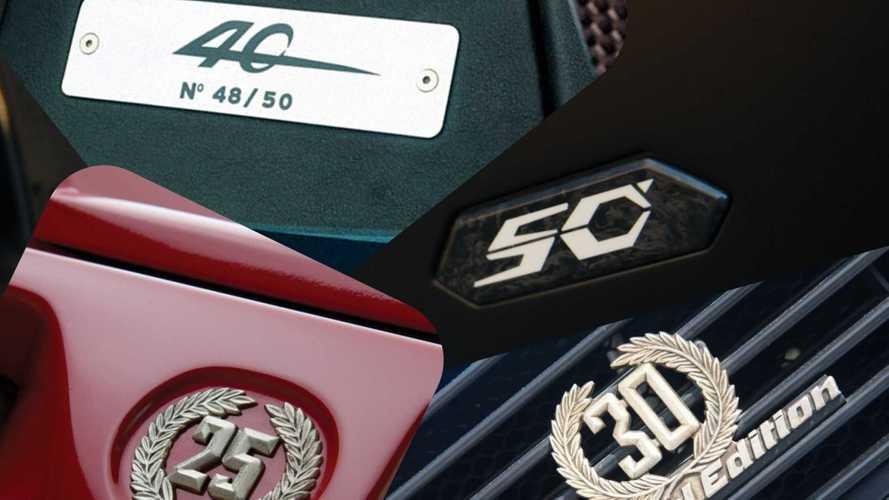Lamborghini, toutes les éditions Anniversaire des modèles V12
