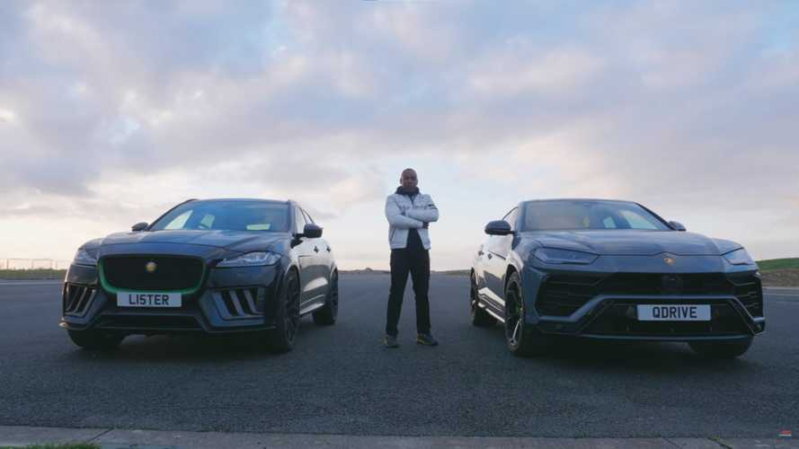 Lister Stealth faces Lamborghini Urus in quarter mile race