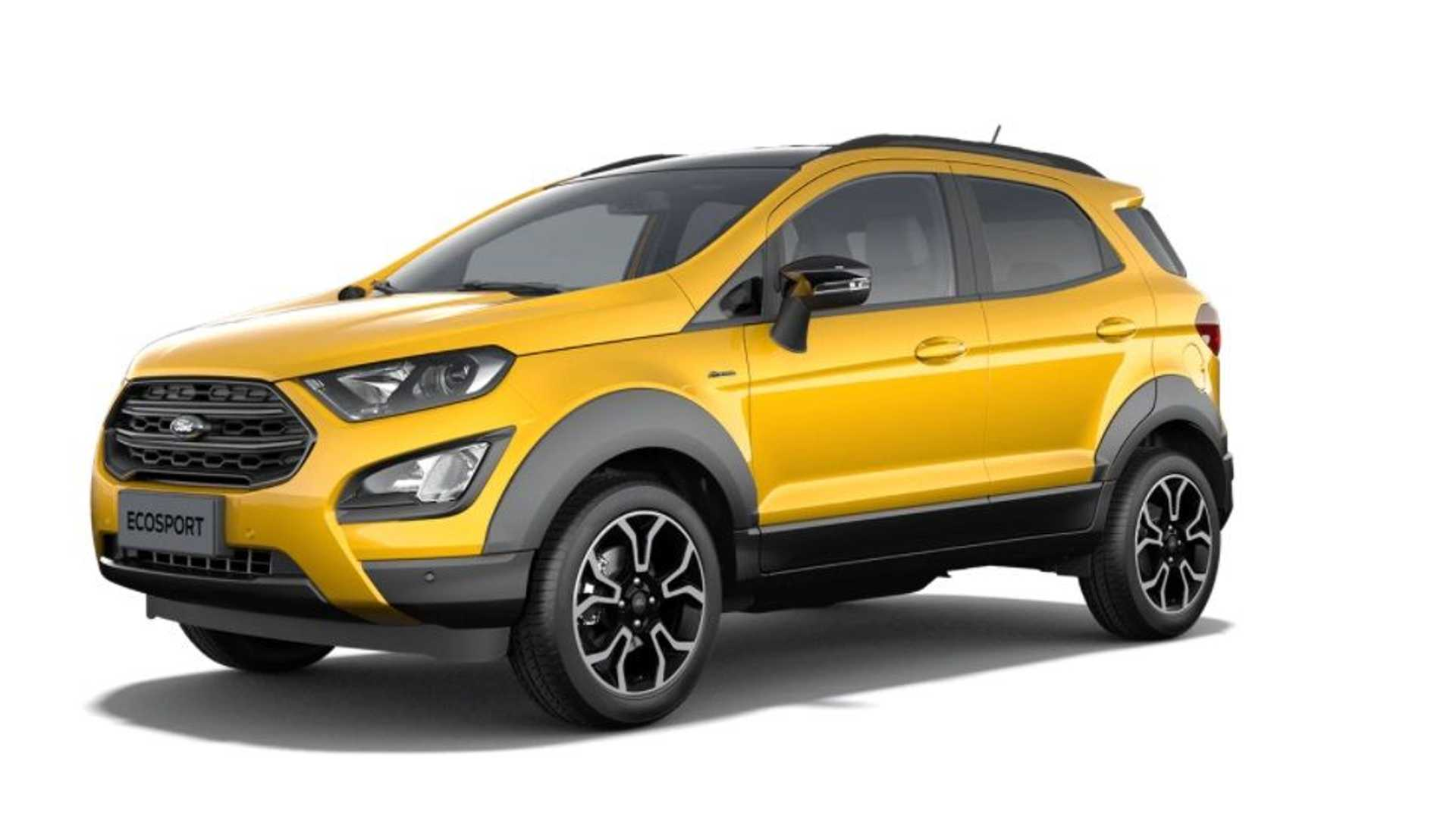 4 Ford EcoSport Active Leaked Images Show The Mildly Rugged SUV