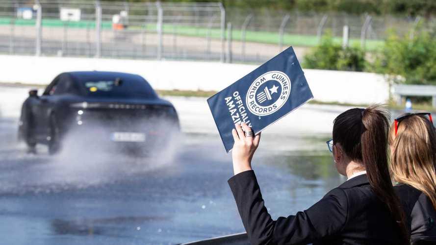 Porsche Taycan Sets World EV Drifting Record, Goes Sideways For 41 Km