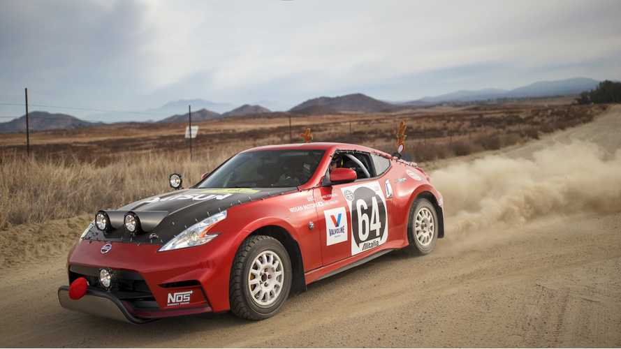 This Nissan 370Z rally car is an homage to the Safari Datsun 240Z