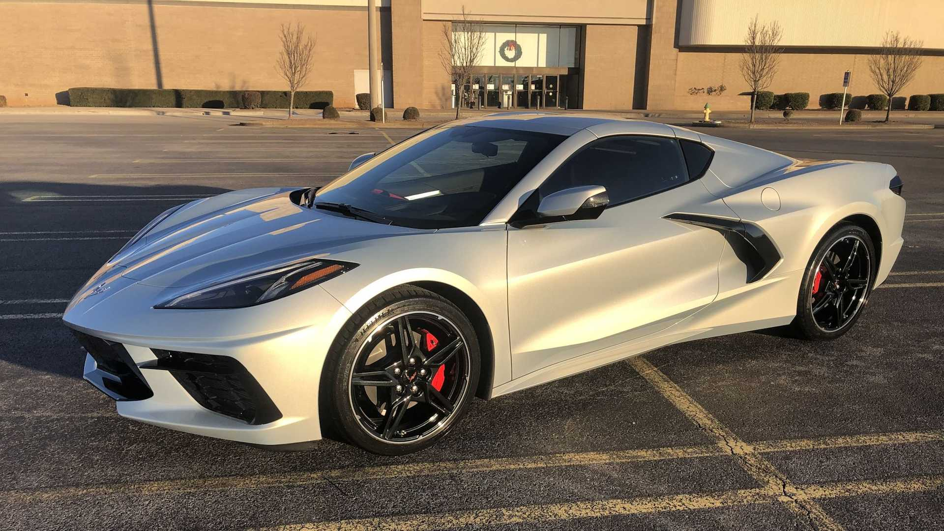 2021 Chevy Corvette With Silver Flare Metallic Paint